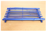 Coloured Mini Bamboo Table, Blue, 35cm